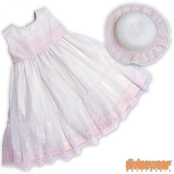 βαπτιστικό φόρεμα με τούλι/δαντελα