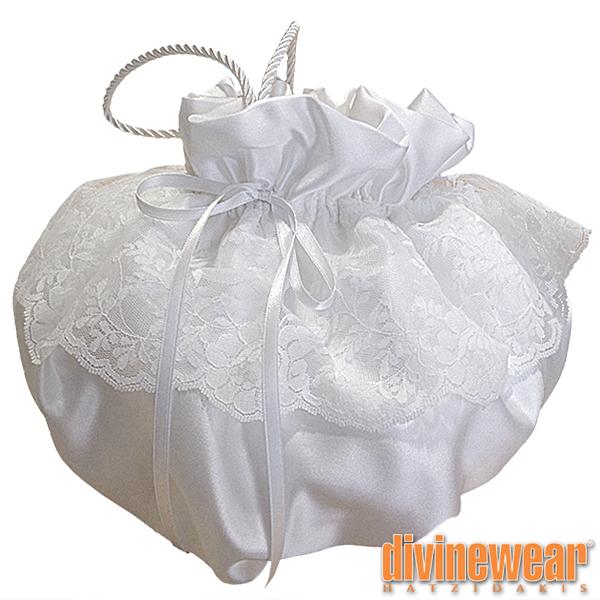 λευκό πουγκί για καλλυντικά ή εσώρουχα