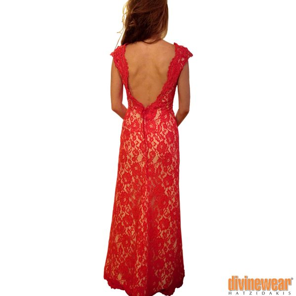 φορεμα μακρύ δαντέλα